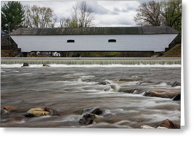 Covered Bridge In March Greeting Card