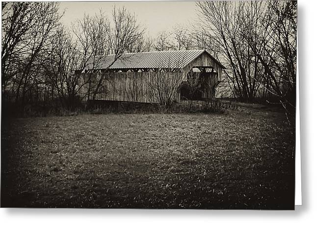 Covered Bridge In Upstate New York Greeting Card by Bill Cannon