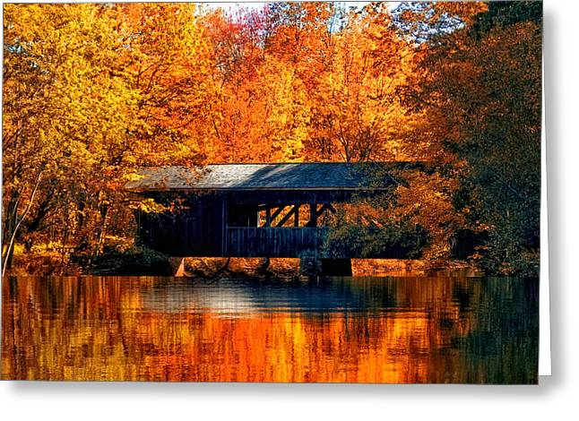 Covered Bridge Greeting Card by Joann Vitali