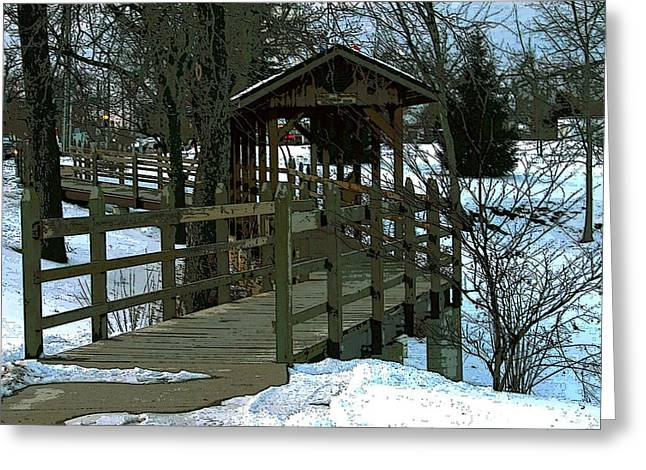 Covered Bridge Greeting Card by Julie Grace