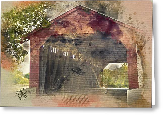 Utica Mills Covered Bridge Greeting Card
