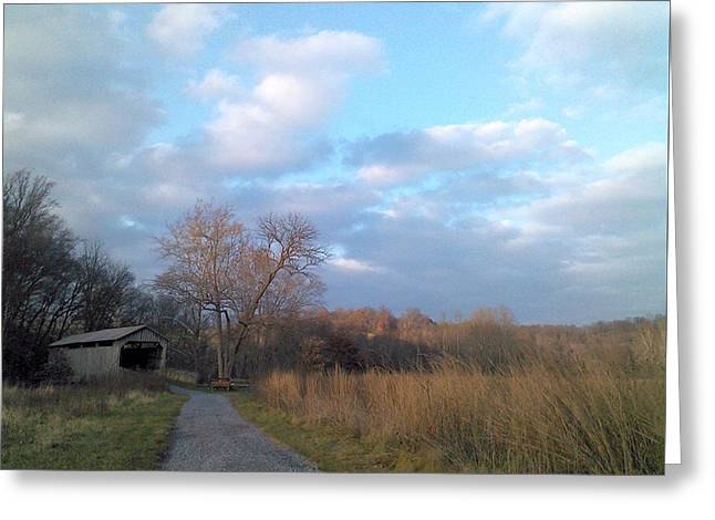 Greeting Card featuring the photograph Covered Bridge by Melinda Blackman