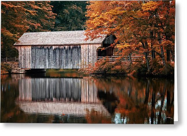 Covered Bridge Osv Greeting Card by Fred LeBlanc
