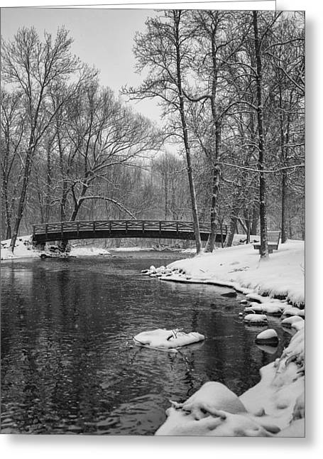 Covered Bridge Park #2 Greeting Card by Jeff Klingler
