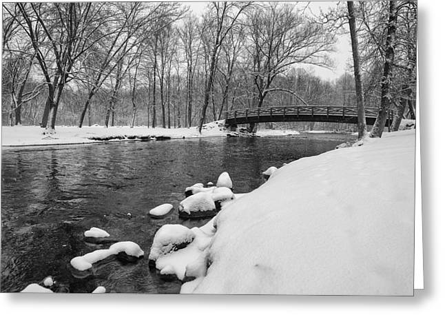 Covered Bridge Park #3 Greeting Card by Jeff Klingler