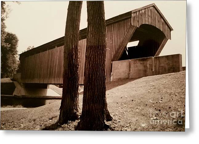 Covered Bridge Southern Indiana Greeting Card by Scott D Van Osdol