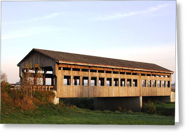 Greeting Card featuring the photograph Covered Bridge To Rockwood by Bruce Bley