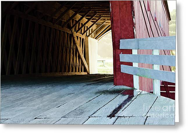 Greeting Card featuring the photograph Covered Bridge, Winterset, Iowa by Wilma Birdwell