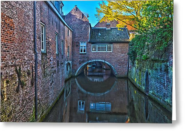 Covered Canal In Den Bosch Greeting Card