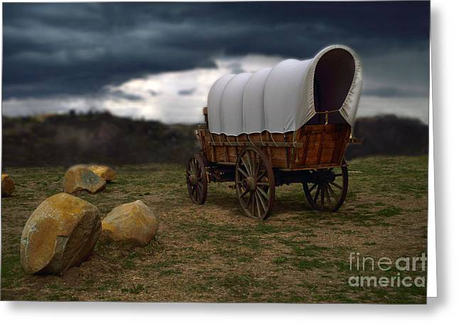 Covered Wagon 2 Greeting Card