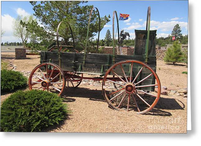 Covered Wagon Greeting Card by Frederick Holiday