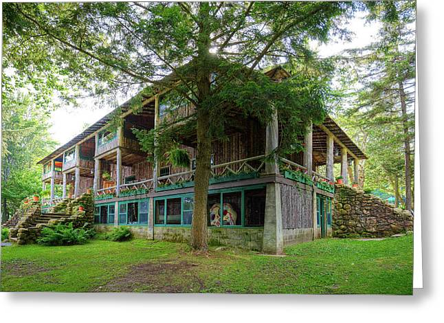 Greeting Card featuring the photograph Covewood Lodge On Big Moose Lake by David Patterson