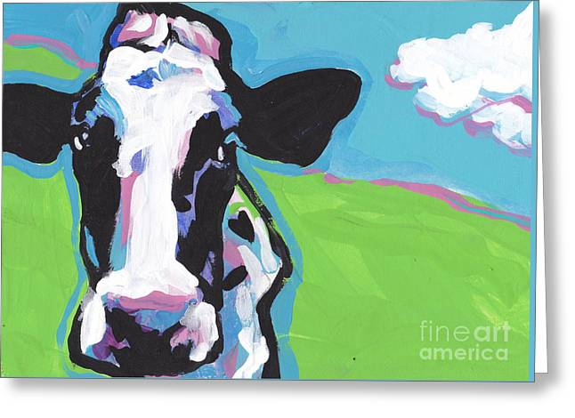Cow Cow Greeting Card by Lea S
