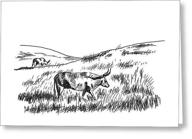 Country Morning Greeting Card by Masha Batkova