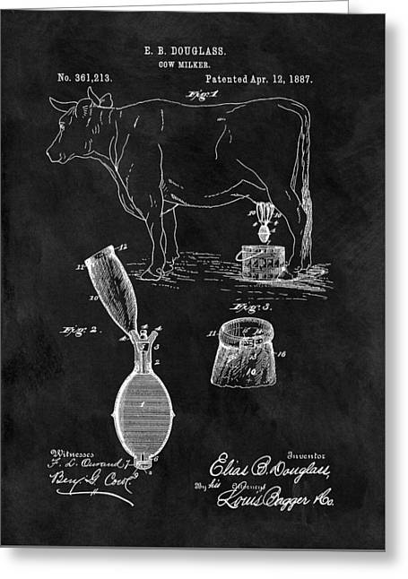 Cow Milker Patent Greeting Card