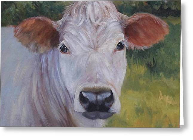 Cow Painting Ms Ivory Greeting Card