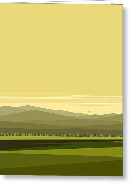 Cow Pass Spring Green - Vertical Greeting Card