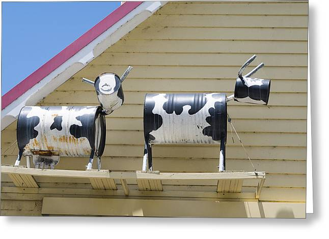 Cow Sculptures Greeting Card