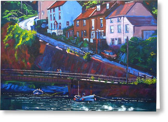 Cowbar - Staithes Greeting Card by Neil McBride