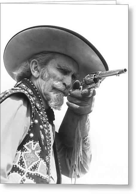 Cowboy Aiming A Gun, C.1930s Greeting Card