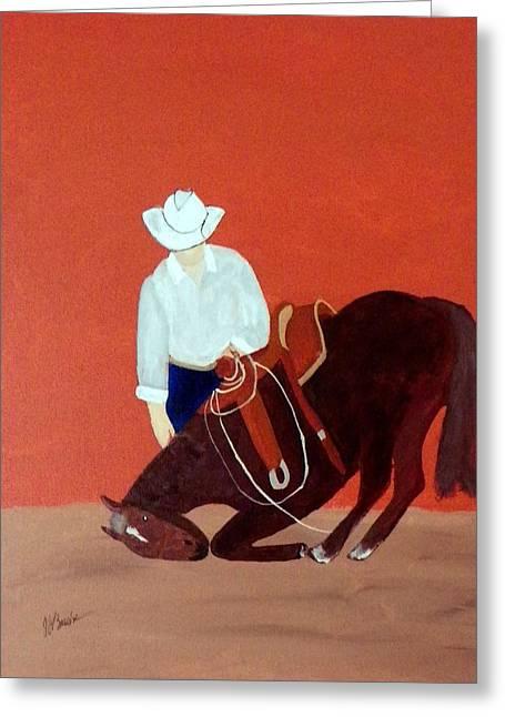 Cowboy And His Horse Greeting Card