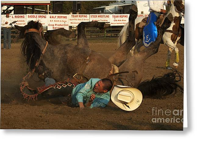 Cowboy Art 8 Greeting Card by Bob Christopher