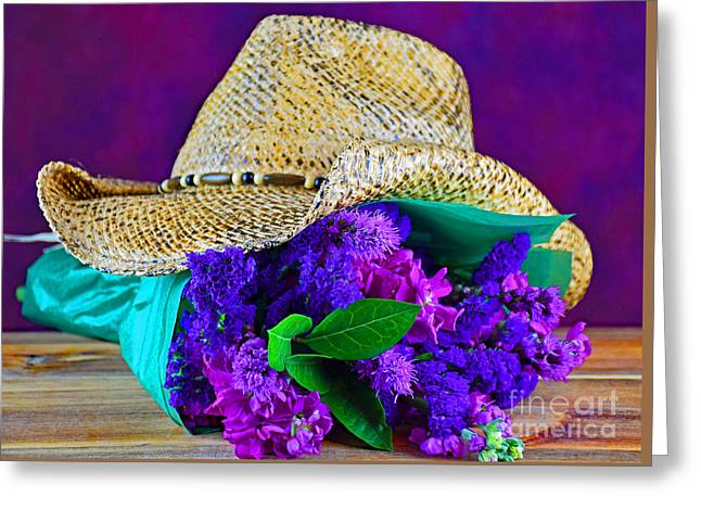 Cowboy Bouquet Greeting Card