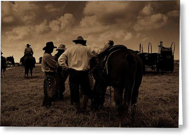 Cowboy Conversation Greeting Card