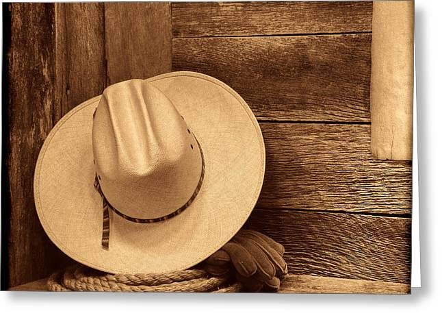 Cowboy Hat In Town Greeting Card
