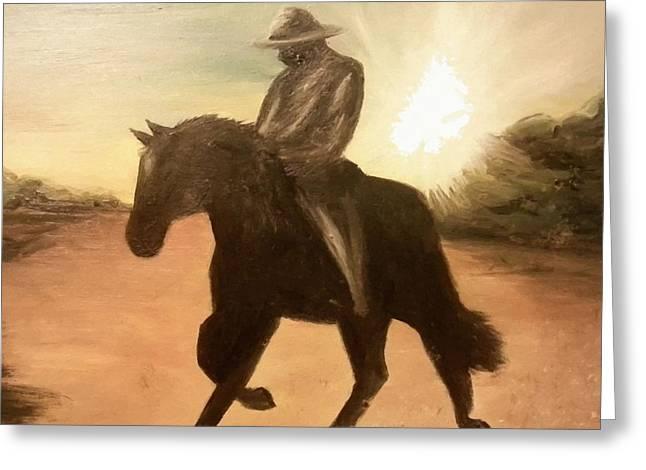 Cowboy On The Range Greeting Card