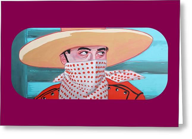 Cowboy Peewee Greeting Card by Jason Wright