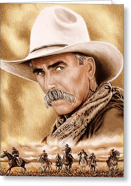 Cowboy Sepia Edit Greeting Card