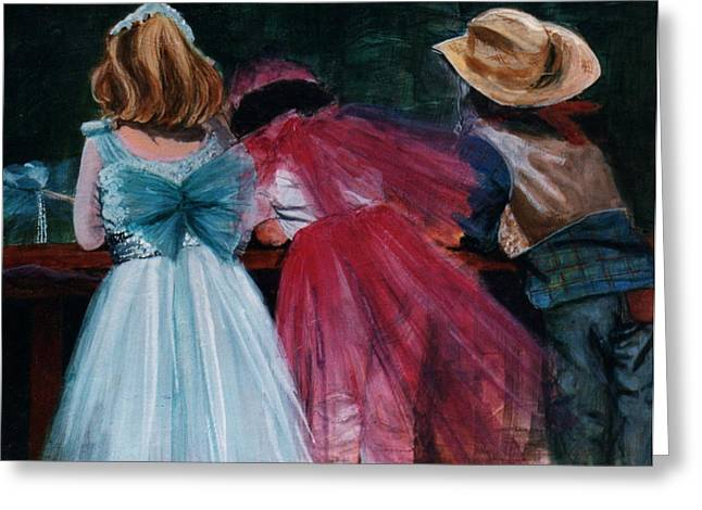 Cowboys And Queens Greeting Card by Victoria Heryet