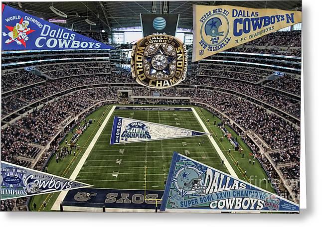 Cowboys Super Bowls Greeting Card