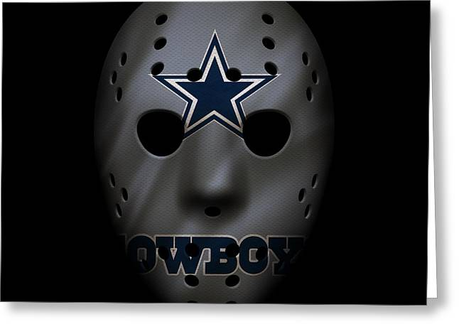Cowboys War Mask 2 Greeting Card by Joe Hamilton