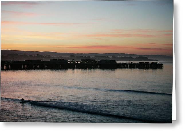 Cowells Beach Surfer Greeting Card