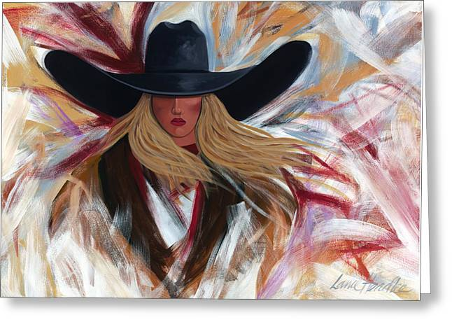 Cowgirl Colors Greeting Card by Lance Headlee