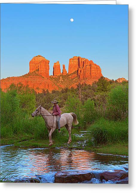 Cowgirl Crossing Greeting Card