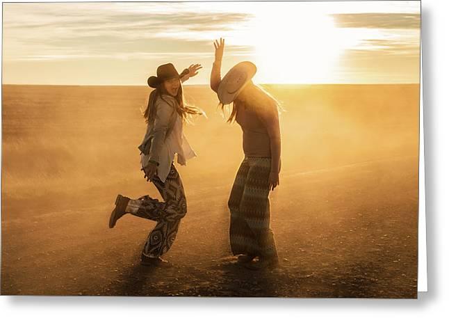 Cowgirl Dance Greeting Card