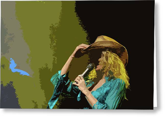 Cowgirl  Entertainer Greeting Card