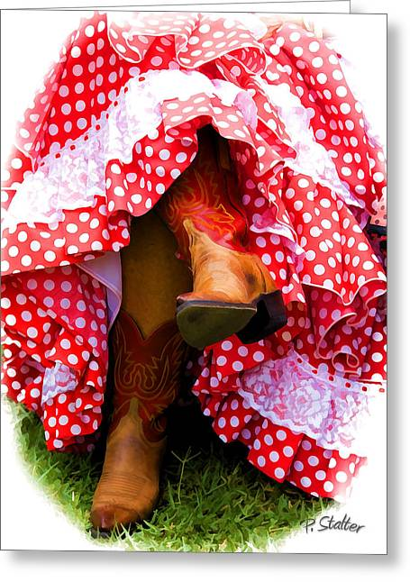 Boots Digital Art Greeting Cards - Cowgirl Garb Greeting Card by Patricia Stalter