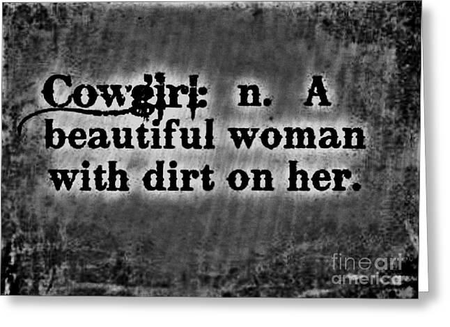 Cowgirls B-w Greeting Card