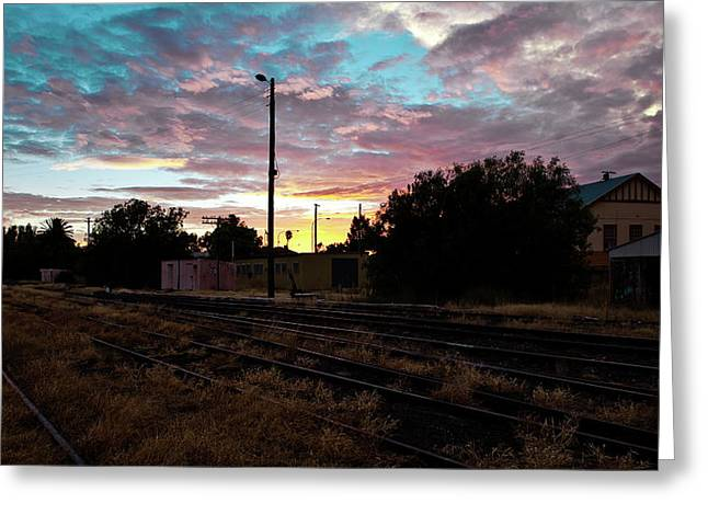 Cowra Sunset Greeting Card by John Buxton