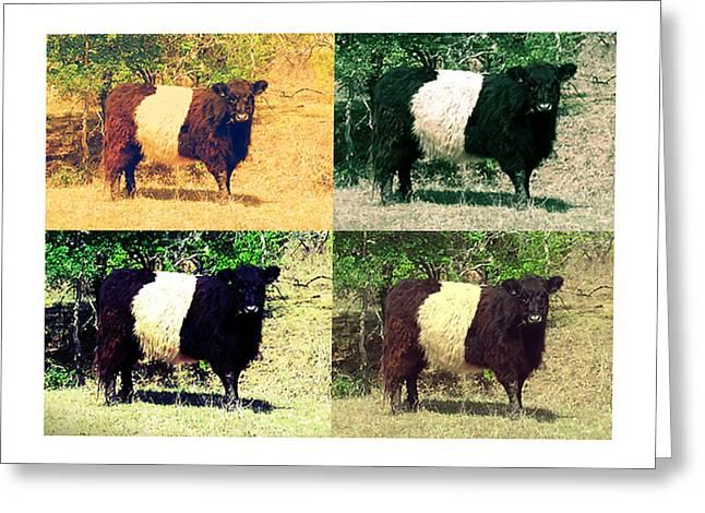Cows Greeting Card by Joanne Elizabeth