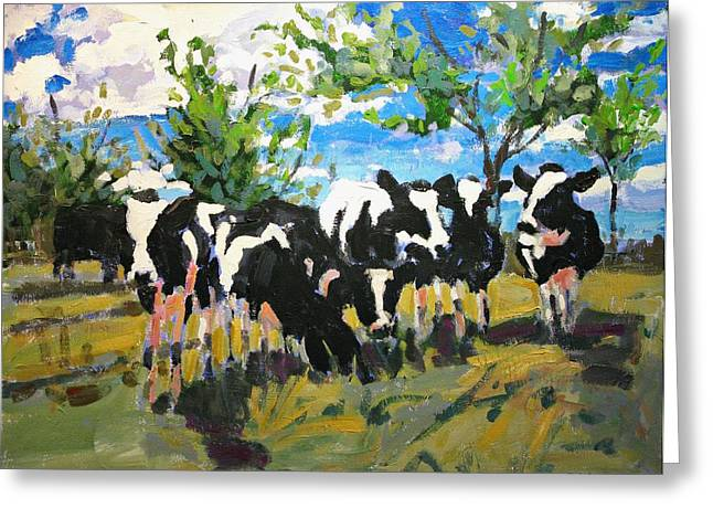 Cowscape Greeting Card by Brian Simons