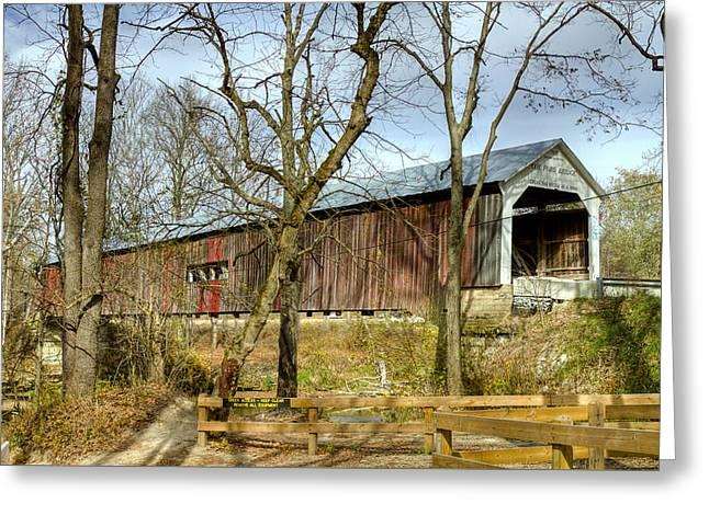 Cox Ford Covered Bridge Greeting Card by Jack R Perry