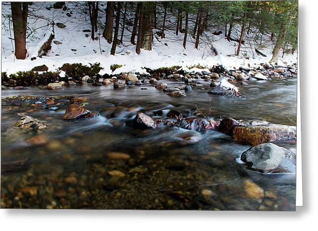 Coxing Kill In December #1 Greeting Card by Jeff Severson