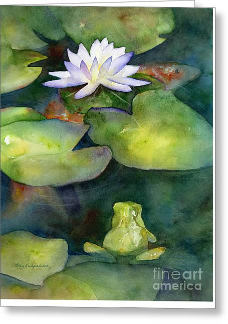 Coy Koi Greeting Card by Amy Kirkpatrick