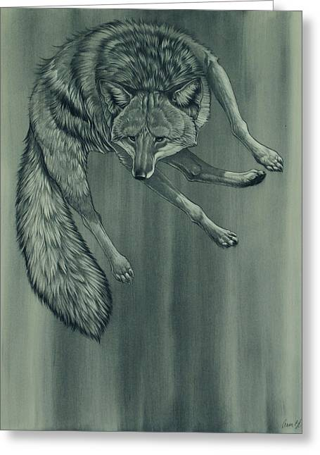 Greeting Card featuring the digital art Coyote by Aaron Blaise