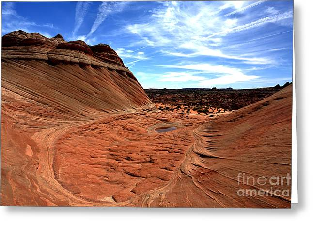 Coyote Buttes Crater Greeting Card by Adam Jewell